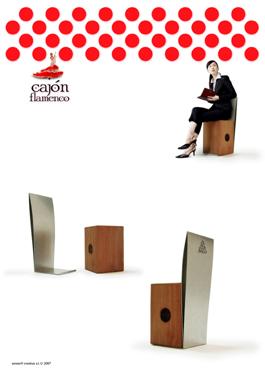 cajón flamenco chair by sanserif