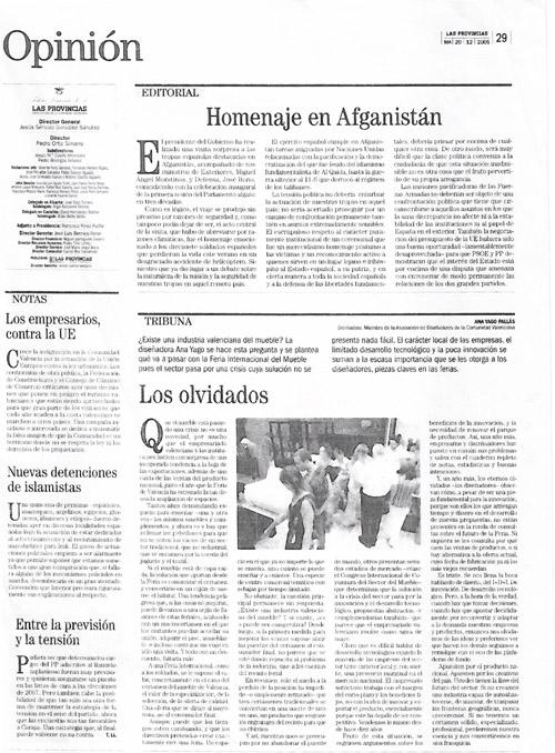 Las Provincias 20/12/2005