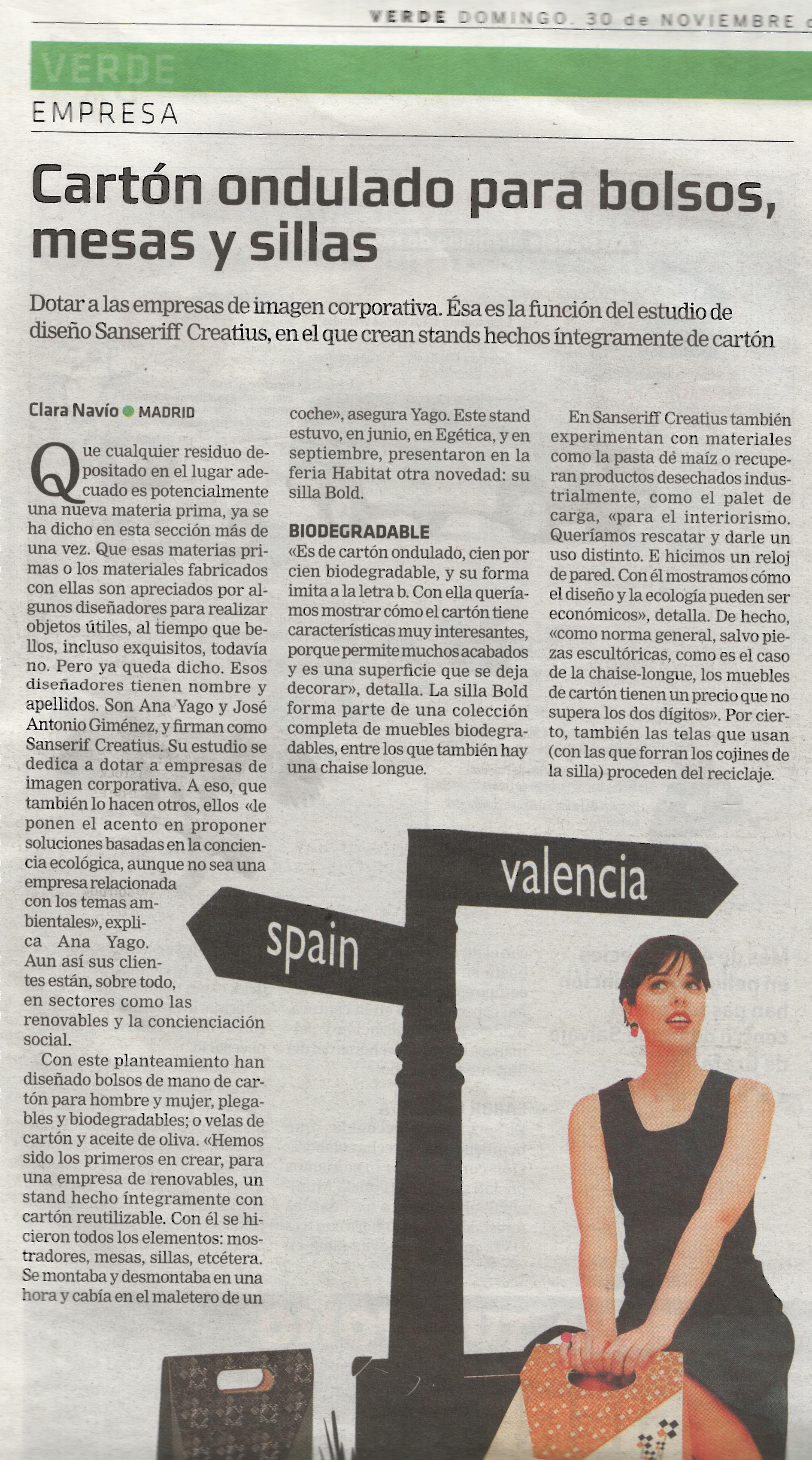 La Razón 30/11/08 p.23