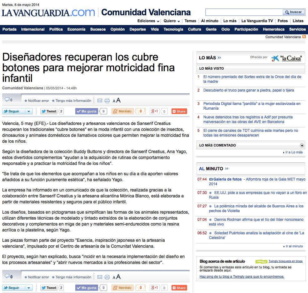 La Vanguardia 5-5-14